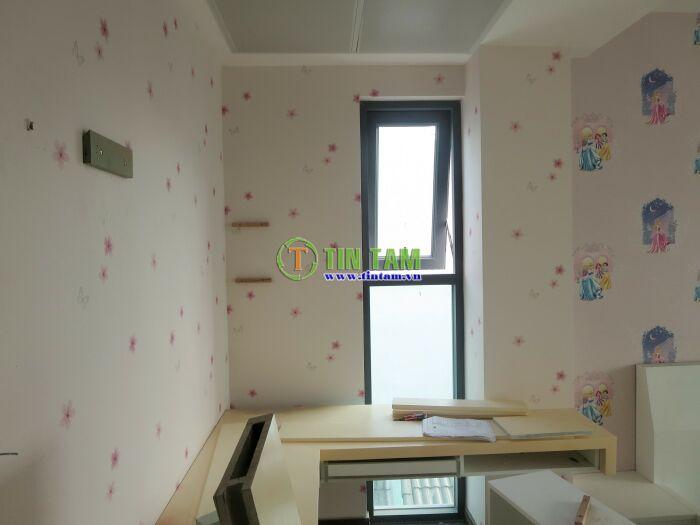 giấy gián tường phòng bé gái xinh