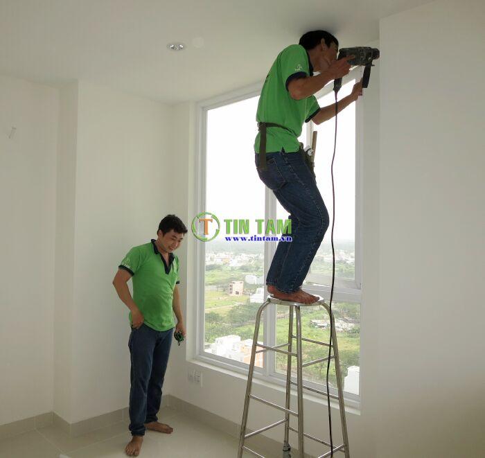 thi công may rèm cửa sổ phòng ngủ đẹp