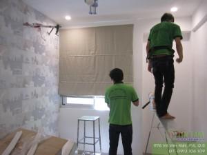 Giấy dán tường cc Mỹ Viên Nguyễn Lương Bằng, PMH Quận 7 TPHCM