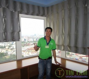 Rèm cửa căn hộ Saigon Pearl Nguyễn Hữu Cảnh Quận Bình Thạnh TPHCM