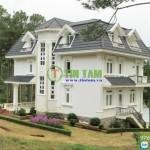 Giấy dán tường, rèm vải – Villa Sacom tại Đà Lạt tỉnh Lâm Đồng
