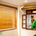 Công trình Rèm sáo gỗ đường Điện Biên Phủ – Bình Thạnh (Căn hộ Anh Nhiên)